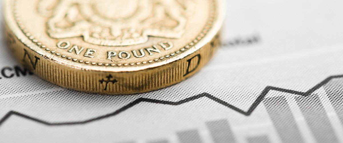 Slideshow pound coin graph