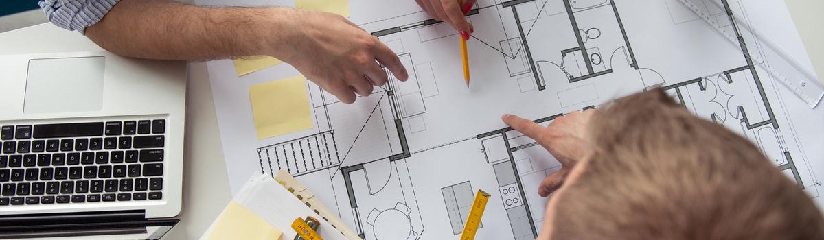 Short banner architecture plans