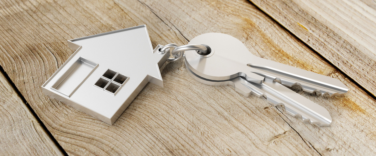 Slideshow house keychain