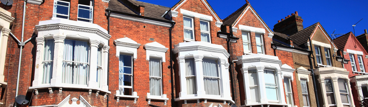 Short banner terraced houses