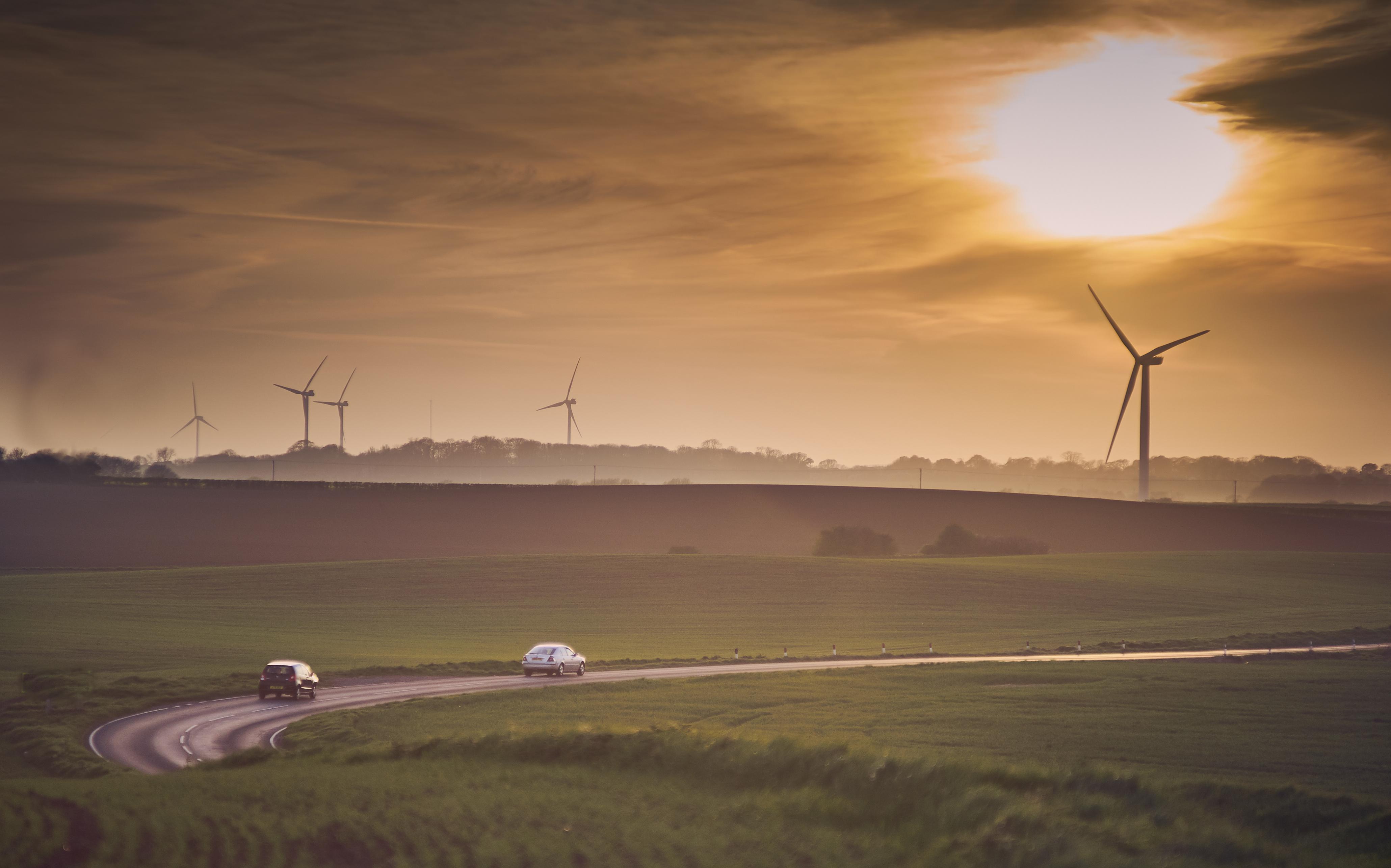 Rural uk wind farm