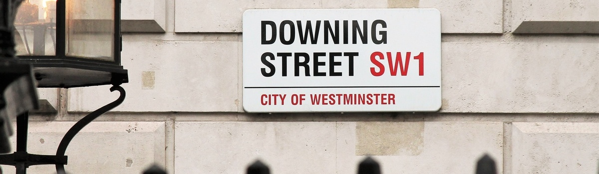 Short banner downing street