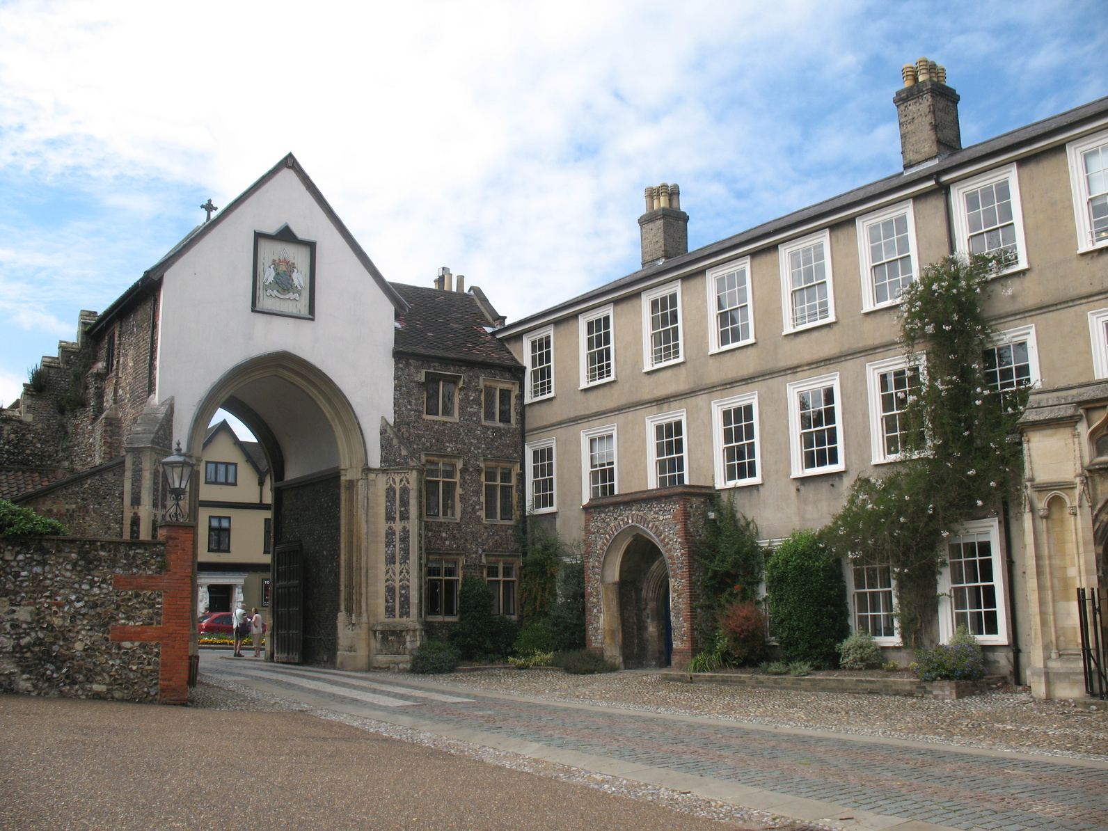 Norwich cathedral gate
