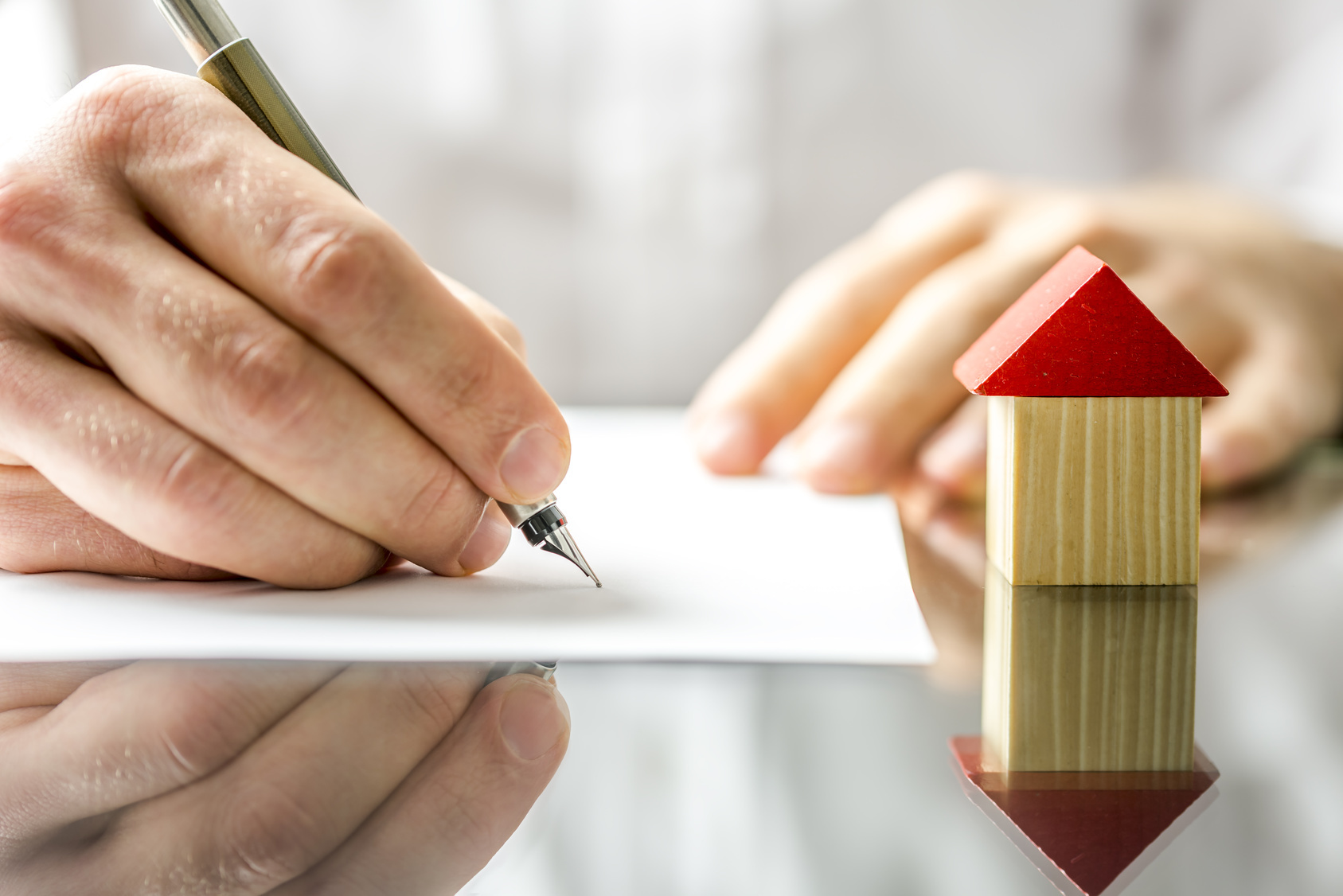 Man signs contract house