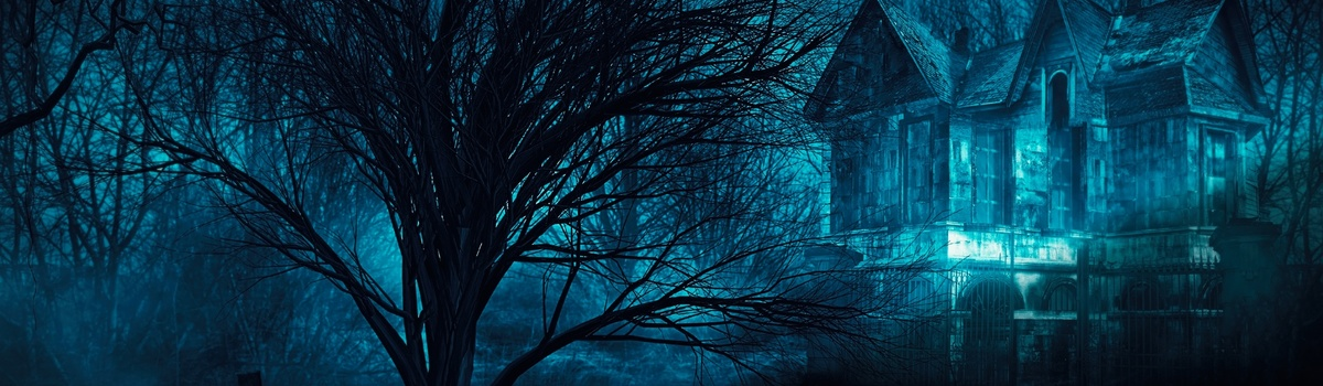 Short banner haunted house
