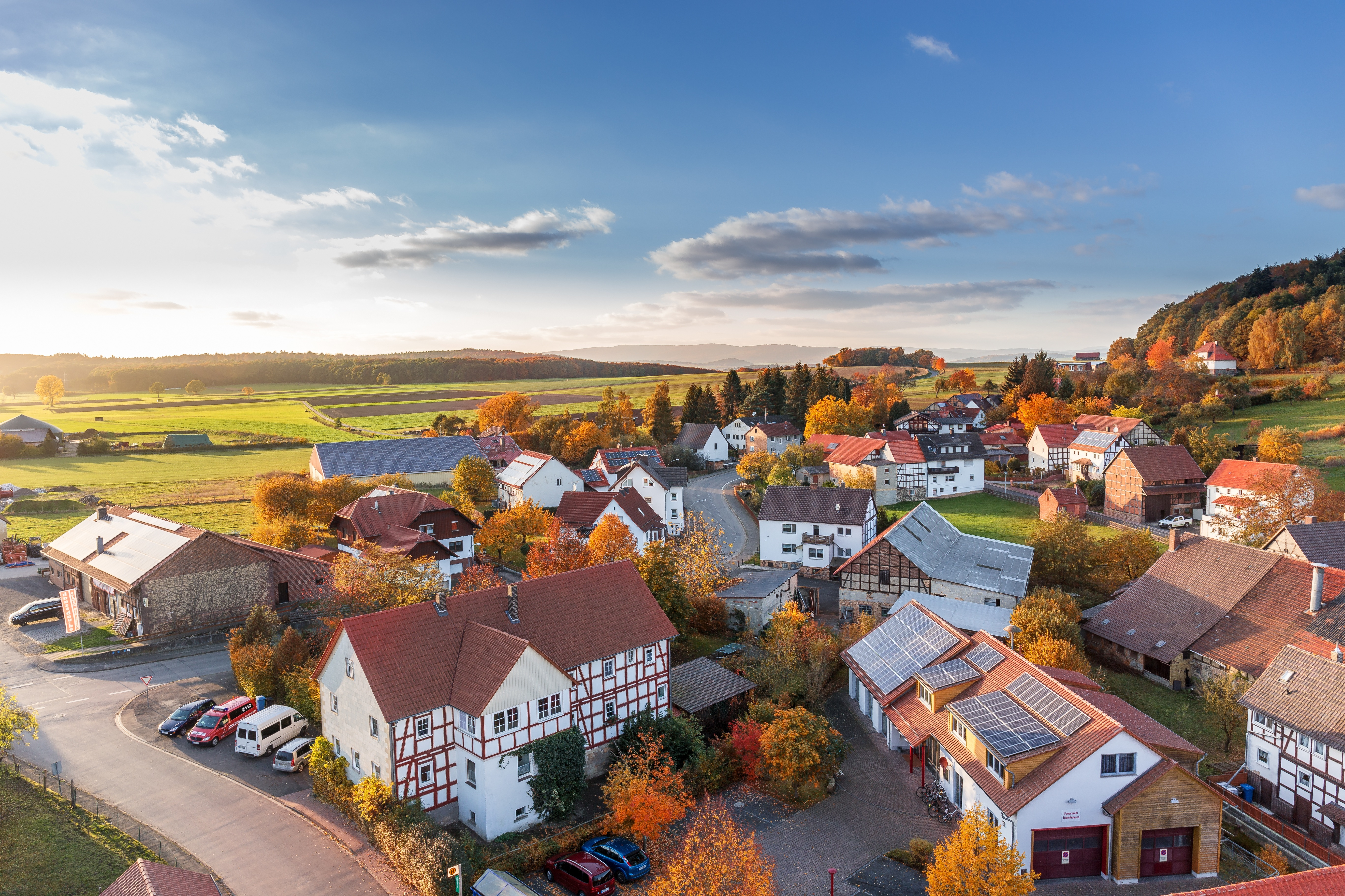 Houses aerial view