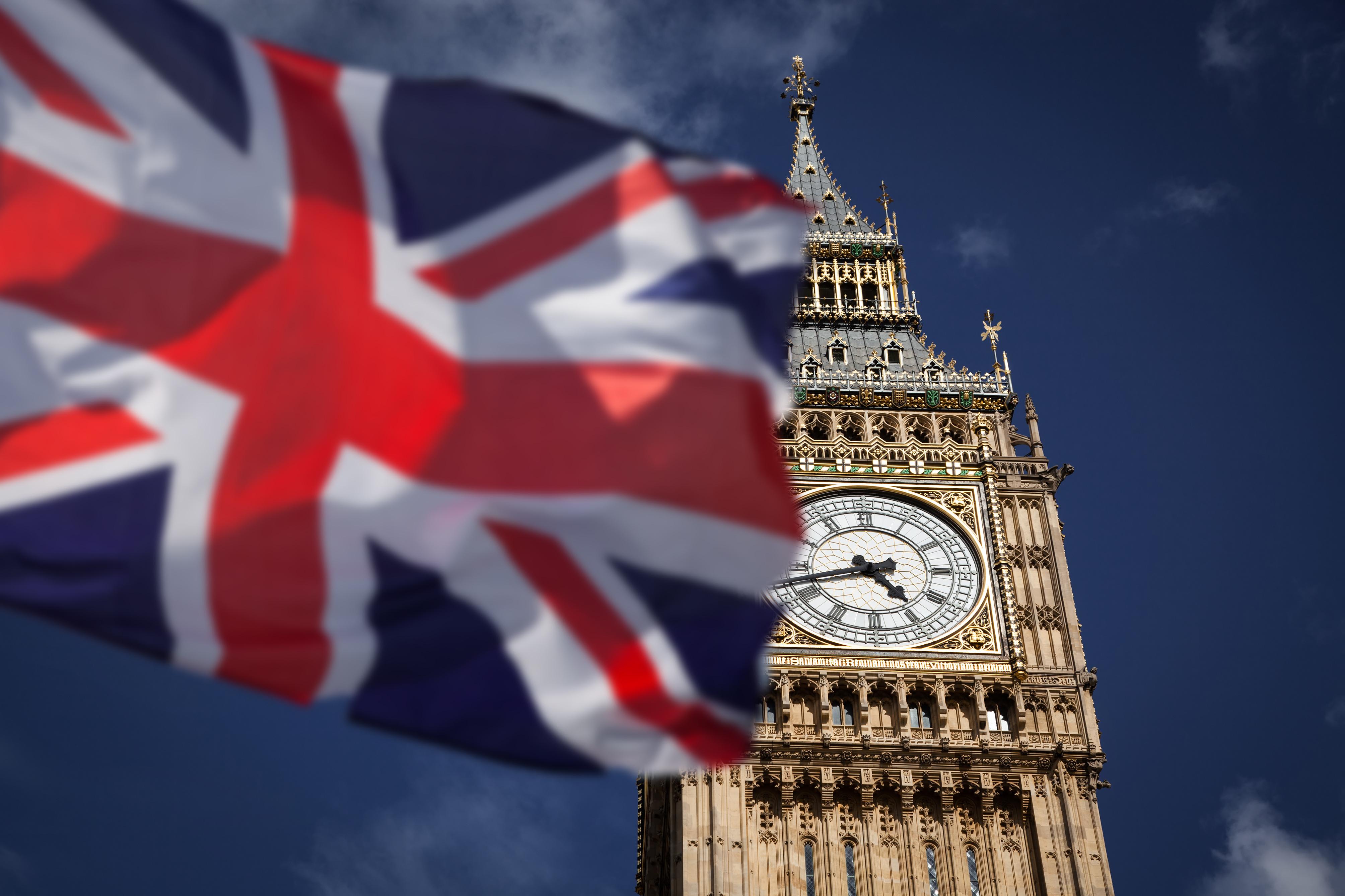 British flag big ben