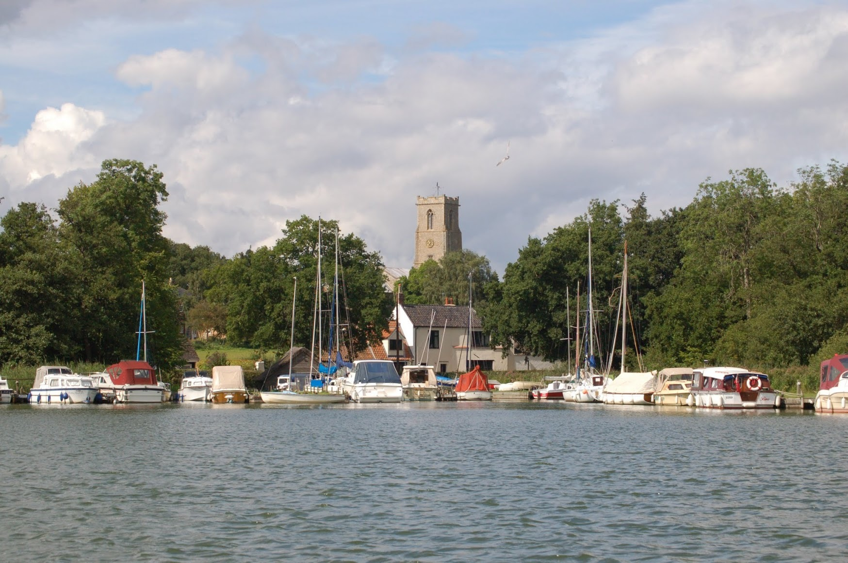 Ranworth marina and church