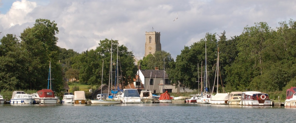 Slideshow ranworth marina and church